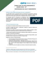AGUA Y SANEAMIENTO E HIGIENE  COVID 19 1_Instituciones_responsables