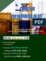 Kim loại phản ứng với axit