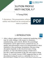 FDA Slides on Disso profile