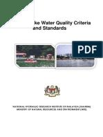 Lake Wter Quality Standard by NAHRIM