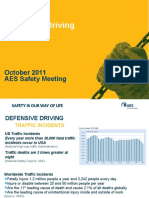 October Safety Meeting - Defensive Driving - English - Final