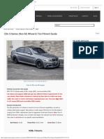 E9x 3-Series (non-M) Wheel & Tire Fitment Guide