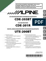 Alpine OM UTE-200BT (CDE-203BT/CDE-201R) RU