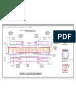 Detailed longitudinal section through RCC Deep Beam