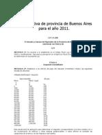 ley impositiva 2011 arba