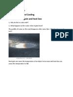 Class VIII science HEAT GAIN AND HEAT LOSS (1)