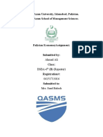 Ahmad Ali -Pakistan Economey Assignment