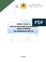 Impact Du COVID Sur Les Secteurs Écoonomiques Dans La Région Casablanca Settat