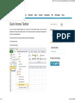 Quick Access Toolbar in Excel - Easy Excel Tutorial