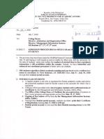 VPAA Office Memorandum No. 25, s. 2020