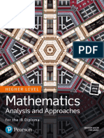 Mathematics HL - Analysis and Approaches - Pearson 2019