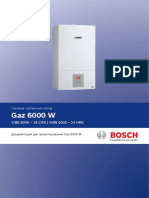 Bosch Gaz 6000W Planning document