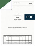 MC-EL-001 LISTA DE EQUIPOS FUSION