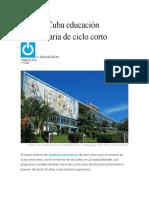 Estrena Cuba educación universitaria de ciclo corto