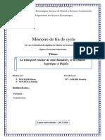 Le transport routier de marchandises et la chaine logistique à Béjaia.pdf