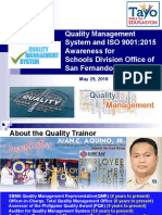 ISO 9001 ver 2015 foundation course