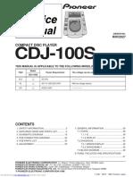 pioneer cdj100s service manual