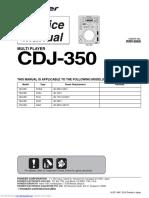 pioneer cdj350 service manual