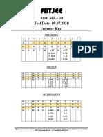 ADV MT-20-Answer key