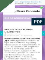 biodescodificación – ligamentos