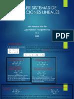 TALLER SISTEMAS DE ECUACIONES LINEALES (1)