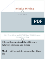 Descriptive Writing Zooming Structure