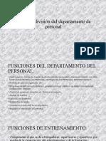 Rol de la división del departamento de personal diapositivas
