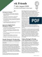 GCMM Newsletter July August 2020