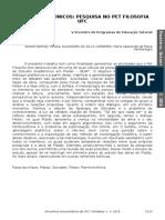 -Resumo Anais - Estudos Platônicos - Robert Brenner - Semana Universitária da Universidade Federal do Ceará 2018