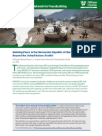 Building Peace in the Democratic Republic of the Congo Beyond the United Nations Toolkit
