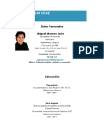 Curriculum Miguel Moreno León