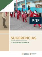 Sugerencias para el regreso a las clases en educación primaria 2020