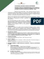 TERMINOS DE REFERENCIA - ASISTENTE  DE SUPERVISION