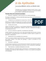 Conceptos de PSicologia relacionada con los test