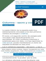 Biodescodificación - sacro y coxis