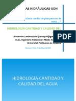 HIDROLOGIA CANTIDAD Y CALIDAD DEL AGUA