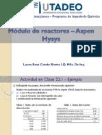 22. Módulo de Reactores - Aspen HYSYS_2020-1S