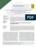 el rol de los factores personales y familiares en la autodeterminación de jóvenes con discapacidad intelectual