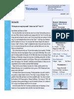 Temple Tidings Newsletter Jan 2011