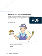 Microempresa  ventajas y desventajas
