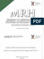 Sesiones 5 y 6 Dirección RR HH 2 - MRH USACH