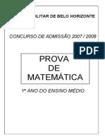Colegio Militar de Belo Horizonte Prova de Matemática 2007 01.07.2020.pdf