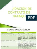 liquidación y servicio doméstico
