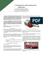 Practica 2 – Cuestionario sobre motores de inducción