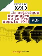La politique etrangere de la Fr - Bozo, Frederic