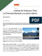 La Bella Durmiente de Huánuco, Perú.