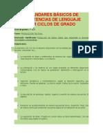 ESTÁNDARES BÁSICOS DE COMPETENCIAS DE LENGUAJE