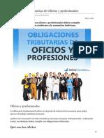 boliviaimpuestos.com-Obligaciones tributarias de Oficios y profesionales