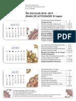 Calendario Escolar III Lapso 2018-2019