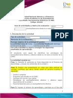 Guia de actividades y Rúbrica de evaluación Escenario 1  Acompañamiento desde la e-monitoria